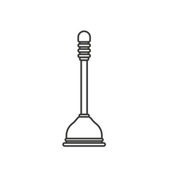 monochrome silhouette of toilet plunger icon vector image