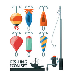 Fishing equipment basic for catch vector