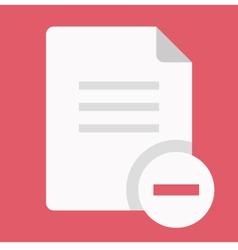 Delete Document Icon vector image
