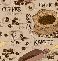 Seamless pattern of coffee vector