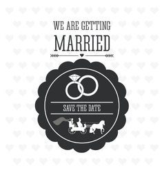 Married design wedding icon flat vector