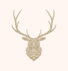 Abstract geometric style deer vector