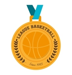 basketball medal winner vector image