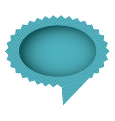 blue oval cloud chat bubble vector image