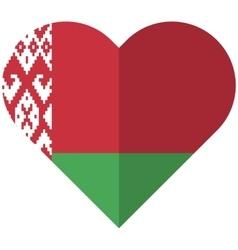 Byelorussia flat heart flag vector image