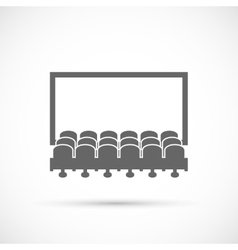 Cinema hall icon vector image vector image