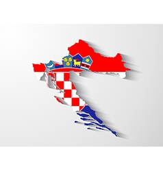 Croatia map with shadow effect vector