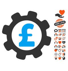 Development pound price icon with love bonus vector