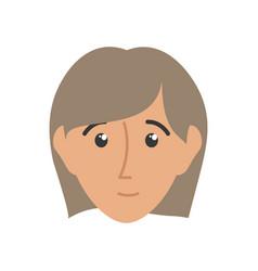 Face woman vector