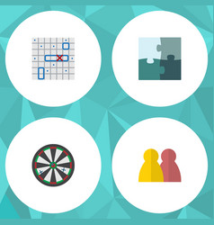 Flat icon games set of sea fight people arrow vector