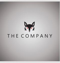 fox logo ideas design vector image