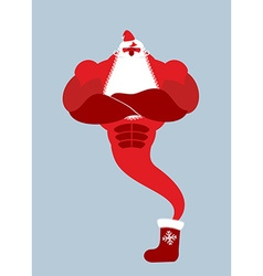 Genie santa claus magical christmas spirit of vector