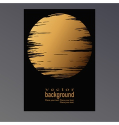 golden moon vector image vector image