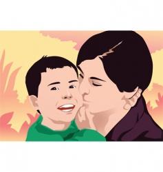 kiss happy vector image