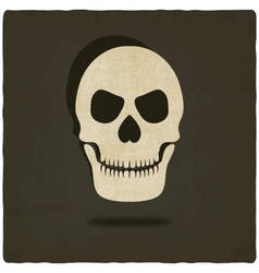 old background with skull vector image vector image