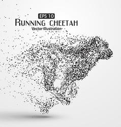 Particle cheetah vector