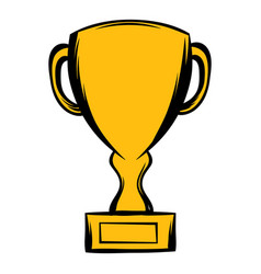 Prize cup icon cartoon vector
