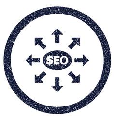Seo marketing rounded grainy icon vector