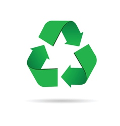 sign for recycling color vector image vector image