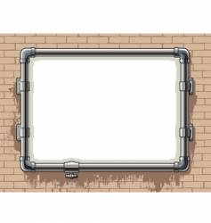 Steel pipe photo frame vector