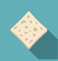 Tofu fresh block icon flat style vector