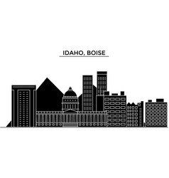 usa idaho boise architecture city skyline vector image vector image