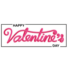 valentines day beautiful calligraphic lettering vector image