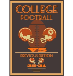 Vintage college american football poster vector