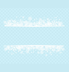 Winter snowflakes blue background for holiday text vector