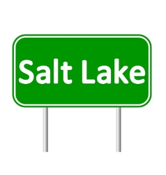 Salt lake city green road sign vector
