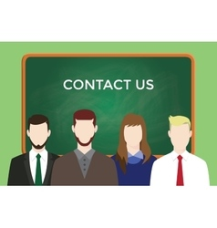 Contact us business team stand vector