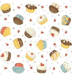 muffins seamless vector image