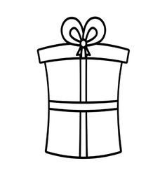 Gift box ribbon new package linear vector