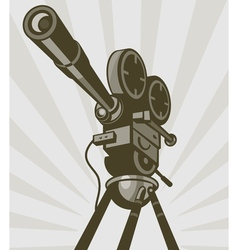 Vintage movie or television film camera vector