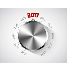 2017 new year card for music lover vector