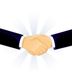 Handshake two men vector image