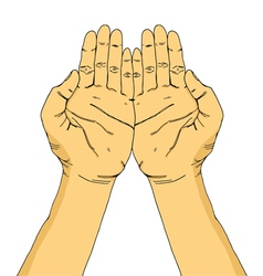 Hands of pray vector