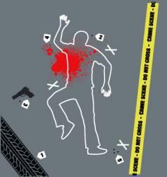 Crime scene vector