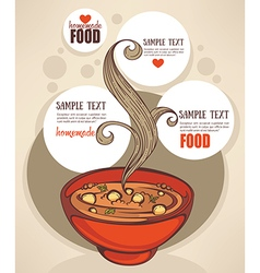 Soup background vector