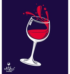 Alcohol theme art classic 3d realistic wine vector