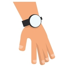 Hand with watch icon vector