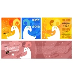 Set of christmas and new year cards for 2015 vector
