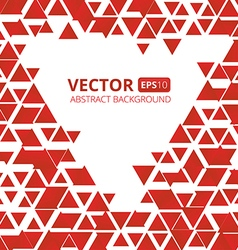 Abstract red triangle background vector image