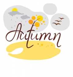 autumn came vector image vector image