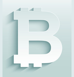 Bitcoin symbol virtual cryptocurrency money vector
