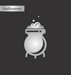 black and white style icon cauldron witches potion vector image