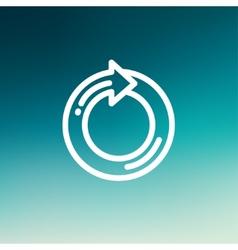 Circular arrow sign thin line icon vector