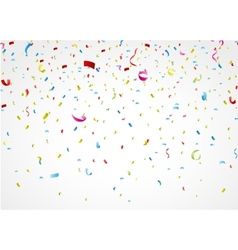 colorful confetti on white background vector image vector image