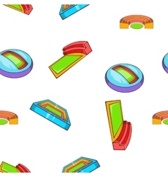 Complex for championship pattern cartoon style vector