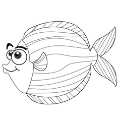 drafting animal for cute fish vector image vector image